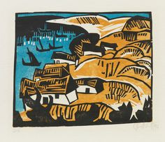 KARL SCHMIDT-ROTTLUFF DIE BUCHT, 1913 Lithograph printed in colors
