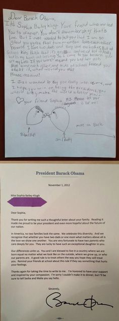 Good Guy Obama Answers Little Girl's Letter