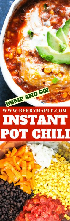 This warming, satisfying and delicious instant pot chili with ground beef will make you ask for more! Healthy instant pot dish that even your kids will love. #instantpot #instantpotsoup #instantpotrecipes #chili #chilirecipe