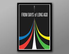 Five Lions: 80s Inspired Retro Art // Red, Yellow, Green, White and Blue Minimalist Graphic Voltron Prin
