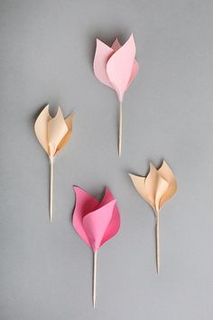 Paper leaf branches create pinterest spring washi tape and tables diy paper tulips mightylinksfo