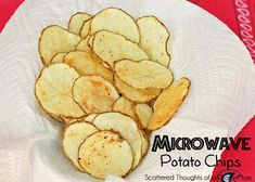 Microwave Potato Chips - Scattered Thoughts of a Crafty Mom by Jamie Sanders - YUM - Potatoes Recipes Healthy Snack Options, Healthy Snacks, Snack Recipes, Cooking Recipes, Easy Snacks, Vegan Recipes, All You Need Is, Microwave Potato Chips, Grilled Cheese Avocado