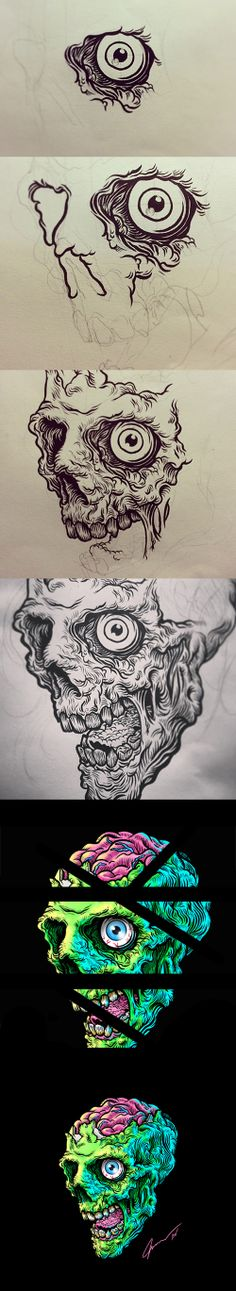The Zombie on Behance