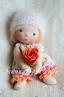 "Small baby doll ""Sewing Box Poetry"""