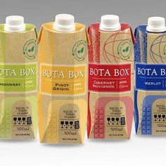 Bota Box wine range. #Resealable Smaller #portions.