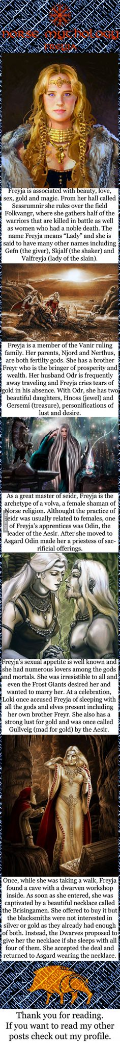 Norse mythology - Freyja                                                                                                                                                                                 More