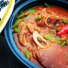 Syrisk lammegryte Paella, Thai Red Curry, Dinner Recipes, Chicken, Meat, Ethnic Recipes, Food, Essen, Yemek