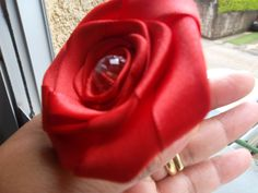 Rosa de cetim - poliamida