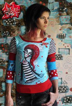 Zamilovaná Ručne maľované tričko z dielne LucLac Materiál  Bavlna  Elastan  Prať na 30ke z e52a8e61fb