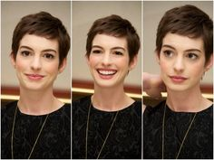 Anne Hathway, the only person that could have pixie hair and still look damn gorgeous and feminine