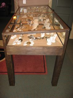 Rustic Glass Display Case Glass display case Display boxes and