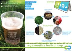 The poster tells the C2C-story of the festival cup that should actually be thrown away after use.   Mark Plant, via @Behance