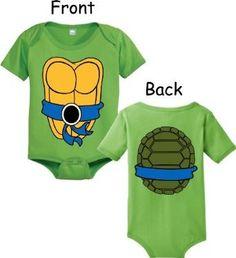 Coolest Thing Ever :Teenage Mutant Ninja Turtles Green Costume Infant Baby Onesie Romper