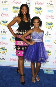 Holly and Nia frazier at the 2014 TCAS