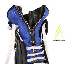 #sneakers #elenaiachi #artmustbedangerous #blue #cool #zip #MUSTHAVE #madeinitaly #handmade #fashionshoes  http://elenaiachi.com/
