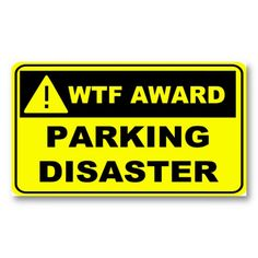 Parking Note for Bad Drivers. Business Card Templates
