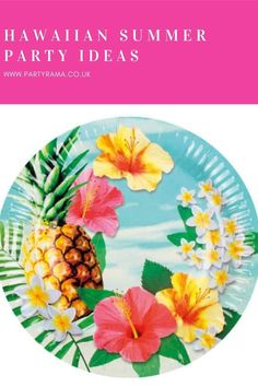 Celebrate a birthday, garden party or anniversary this year Hawaiian style with our collection of plates, tableware and decorations in a Hawaiian themed print that will add a pop of colour to your house or garden. Summer Parties, Hawaiian, Party Supplies, Paradise, Anniversary, Party Ideas, Decorations, Plates, Colour