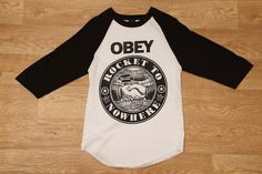 Obey Rocket To Nowhere Baseball Tee Black / White £29.95
