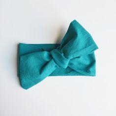 Teal Organic Cotton Headwrap / Infant Headwrap / Baby Headwrap / Toddler Headwrap