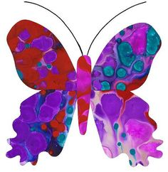beautiful butterflies. try this with alcohol inks, or maybe marbled paper