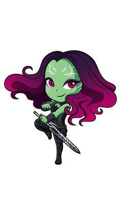 Marvel Chibi Gamora Sticker