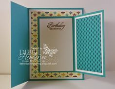 "•Outer Layer: Right-hand side: Whisper White Cardstock: 4"" x 2-1/2"". Designer Paper: 3-3/4"" x 2-1/4"". Stamp the ice cream cone images on Whisper White Cardstock using Bermuda Bay, Rich Razzleberry and Delightful Dijon Inks. Color with a Blender Pen. Glue to card front using Stampin' Dimensionals.  •Sentiment: Stamp the sentiment on Whisper White Cardstock and cut with the Word Window Punch. Glue to ice cream cone. Center and glue the card onto the inside of the large card so that the opening…"