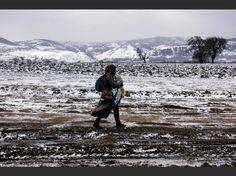 PHOTOS. Le cruel exode des réfugiés dans le froid  SERBIA January 8th 2015