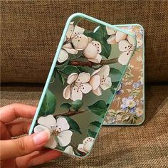 Fashion Luxury Floral Painted 3D Relief For Apple iPhone 6 iPhone6 6S 4.7 Case For iPhone 6 Beauty Flower Cell Phone Cases Cover