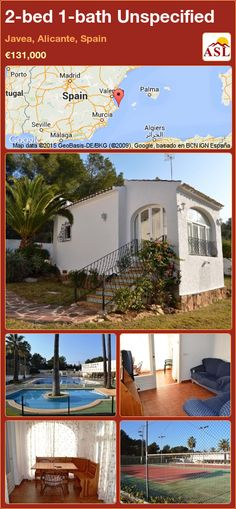 Bungalow for Sale in Javea, Alicante, Spain with 2 bedrooms, 1 bathroom - A Spanish Life Murcia, Bungalows For Sale, Alicante Spain, Playground, Swimming Pools, Spanish, Villa, Bathroom, Bed