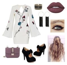 """""""Untitled #10"""" by allyholt10 on Polyvore featuring sass & bide, Eloquii, Bebe, Lime Crime and Valentino"""