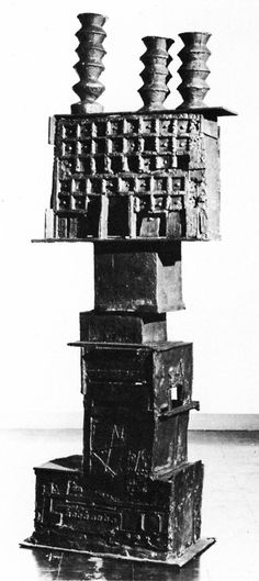 Eduardo Paolozzi's Sculpture. To me this actually looks crap and has no meaning to it at all.