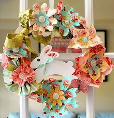 <3 this! Made with fabric flowers....