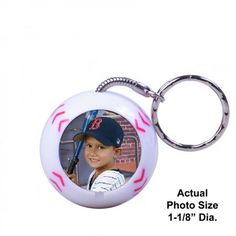 Sport Ball Keychains available for baseball, football, soccer, basketball, hockey, and golf.  Keychain is a unique ballshaped keytag, these are not flat keychains.  Photo Included
