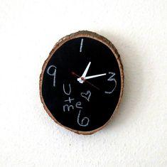 chalkboard clock home and living decor u0026 housewares rustic wall decor wood