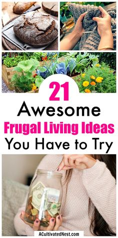 21 Frugal Living Tips To Try This Year- Need some tips, tricks, and motivation to stay on budget this year? These 21 frugal living tips to try this year will help you save a lot of money, and keep you motivated to achieve your frugal goals! | #frugalLiving #frugal #saveMoney #moneySavingTips #waysToSaveMoney #budgeting
