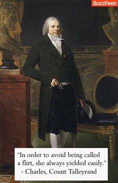 Insult by Charles, Count Talleyrand