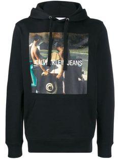 Calvin Klein Jeans Photo Print Hoodie In Black Calvin Klein Jeans, Black Hoodie, Black Cotton, Size Clothing, Black Jeans, Women Wear, Hoodies, Fashion Design, Shopping