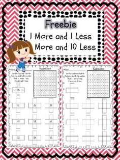 1 more 1 less and 10 more 10 less worksheet - Melissa Mcdermott - TeachersPayTeachers.com