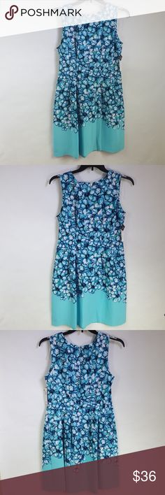 Sandra Darren Floral Print Pocket Dress New with tags.   Made out of 97 %Polyester, 3 %Spandex   Measurement Sandra Darren Dresses