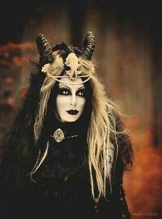Gothic Medieval Witch Horned Headdress Headband Headpiece
