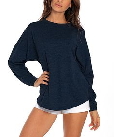 Navy Blue Oversize Pullover Longline Cardigan 55a324246