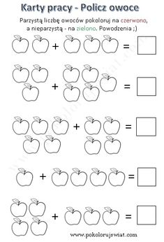 Worksheets - Addition in range of 10 - Color the World Math Addition Worksheets, First Grade Math Worksheets, Printable Preschool Worksheets, Kindergarten Math Activities, Preschool Writing, Numbers Preschool, Math For Kids, Number Writing Practice, Count