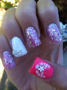 Air Force girlie nails