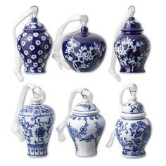Mini Ginger Jar Ornaments, Set of 6 #williamssonoma