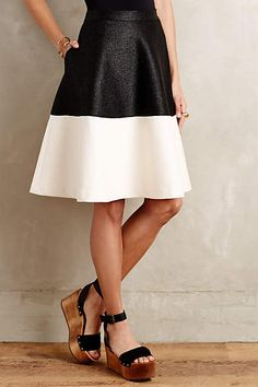 Colorblock Circle Skirt - anthropologie.com