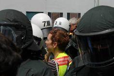 Bei Blockupy Frankfurt 2013: Der vergebliche Versuch, bei der Polizei zu deeskalieren...