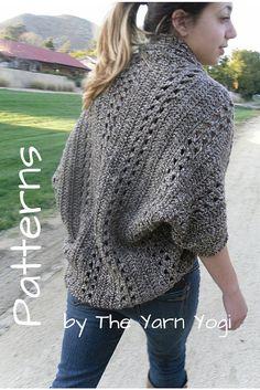 Crochet Cardigan Shrug Pattern: The X-Stitch Shrug by TheYarnYogi