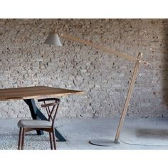 Slope Floor Lamp Beech and Gray with Arm Miniforms | Its Thyme Modern Designs