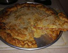 Σκεπαστή+Πίτσα+με+Ιταλικό+Ζυμάρι Calzone, Apple Pie, Pizza, Desserts, Recipes, Food, Kitchen, Tailgate Desserts, Deserts