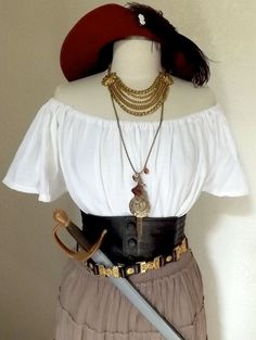 halloween costumes pirate - RESERVED Small Womens Deluxe Pirate Halloween Costume w/ Belts and Jewelry Adult Womens Pirate Halloween Costume by PassionFlowerVintage Halloween Costumes For Work, Halloween Kostüm, Diy Costumes, Costumes For Women, Halloween Jewelry, Halloween Schmuck, Costume Ideas, Adult Pirate Costume, Diy Pirate Costume For Women
